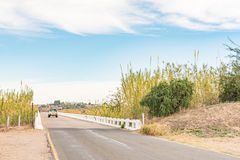Road bridge over part of the Orange River at Kanoneiland Stock Images