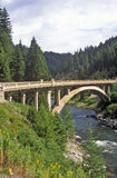 Road Bridge Over the Payette River, Idaho Royalty Free Stock Images