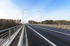 Road through the bridge Royalty Free Stock Photo