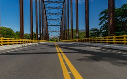 Road in the bridge Royalty Free Stock Photography