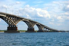 Road bridge in Saratov Stock Images