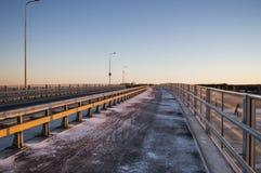 Road on a bridge Royalty Free Stock Photo