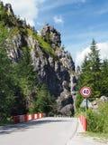 Road with bridge to Vratna Valley, Slovakia Royalty Free Stock Photo