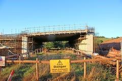 Road bridge under construction Stock Photo