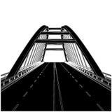 Road The Bridge Vector 01. Road The Bridge Isolated Illustration Vector Stock Photography
