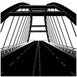 Road The Bridge Vector 02 Royalty Free Stock Photo