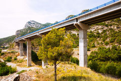 Road bridges in the mountains.  Catalonia Stock Photo