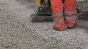 Road building machinery stock video footage