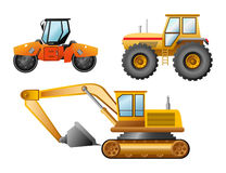 The road building technics. Illustration Royalty Free Stock Photo