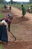 Road building in Uganda Stock Images