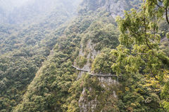 A road built along the face of a cliff Royalty Free Stock Photography