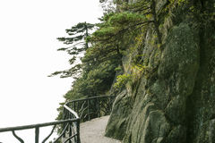A road built along the face of a cliff Stock Images