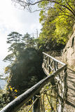 A road built along the face of a cliff Stock Image