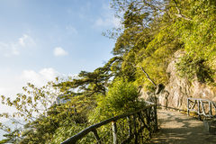 A road built along the face of a cliff Royalty Free Stock Images