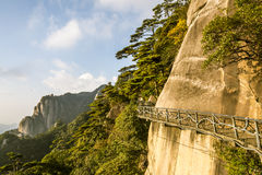 A road built along the face of a cliff Stock Photography