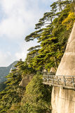 A road built along the face of a cliff Royalty Free Stock Image