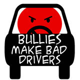 Road bully. Bully driver poster red and black illustration Royalty Free Stock Images