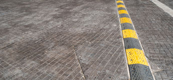 Road bump on the road for reduce speed. Road bump on the road for reduce speed stock photos