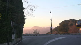 The road from the bus on the Cote d'Azur stock footage