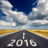 Road business concept for the upcoming new year 2016 Royalty Free Stock Photo