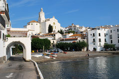 Road at Cadaques on the Costa Brava coast Stock Photography