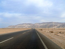 The road between Cairo and Sharm El Sheikh. Royalty Free Stock Photography
