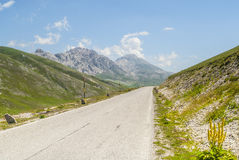 The road of Campo Imperatore Royalty Free Stock Photo