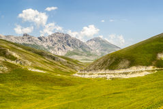The road of Campo Imperatore Royalty Free Stock Photography
