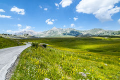 The road of Campo Imperatore Royalty Free Stock Images