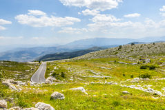 The road of Campo Imperatore Royalty Free Stock Photos