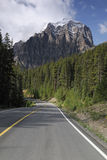 Road in Canadian Rockies Royalty Free Stock Images