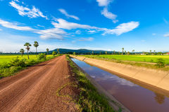 Road and Canal Stock Photography