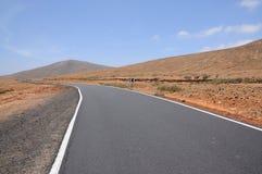 Road on Canary Island Fuerteventura Stock Photos