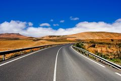 Road on Canary island Lanzarote Royalty Free Stock Image