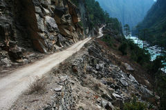 Road in canyon Royalty Free Stock Photos