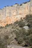 Road in Canyon Landscape; Nuevalos, Aragon Royalty Free Stock Photos