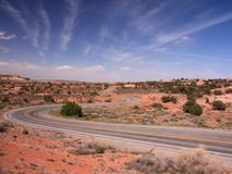 Road in Canyonlands park Royalty Free Stock Photography