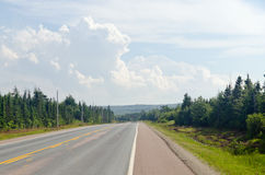Road in Cape of Breton Highlands national park Royalty Free Stock Photo