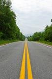 Road in Cape of Breton Highlands national park Stock Images