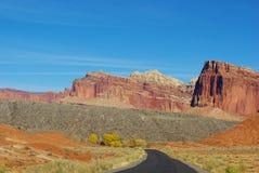 Road through Capitol Reef in autumn. Utah Stock Images