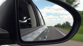 Road And Car Rearview Mirror Full HD