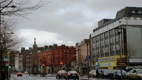Road with cars in Dublin Stock Images