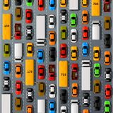Road cars transport, traffic jam background. Royalty Free Stock Images