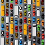Road cars transport, traffic jam background. Vector illustration Royalty Free Stock Images