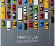 Road cars transport, traffic jam background. Royalty Free Stock Image