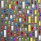 Road cars transport, traffic jam background. Stock Images