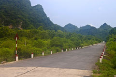 Road in Cat Ba National Park Royalty Free Stock Photos