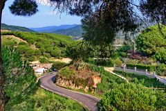 The road in Catalonia. royalty free stock image