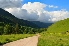 Road in Caucasus Royalty Free Stock Photography