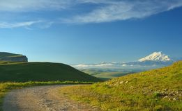 Road in Caucasus Royalty Free Stock Images
